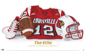 "Louisville Cardinals Football ""The Ville"" Art Print (LE /2000) - Smashgraphix"