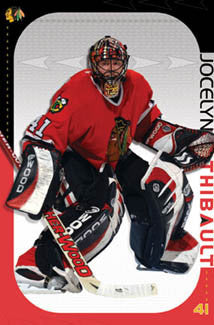 "Jocelyn Thibault ""Stopper"" Chicago Blackhawks Goalie Poster - Costacos 2003"