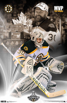 Tim Thomas 2011 Boston Bruins Stanley Cup Champions MVP Poster - Trends International