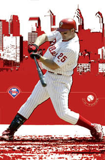 "Jim Thome ""Downtown"" Philadelphia Phillies MLB Poster - Costacos 2003"
