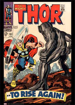 The Mighty Thor #151 (April 1968) Marvel Comics Official Cover Poster Print - Asgard Press
