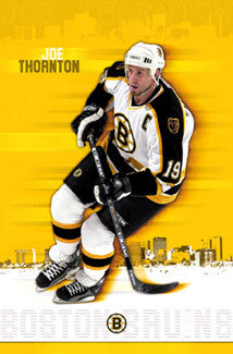 "Joe Thornton ""The Captain"" Boston Bruins Poster - Costacos 2003"