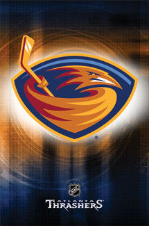 Atlanta Thrashers Official NHL Team Logo Poster - Costacos Sports