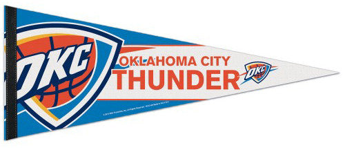 Oklahoma City Thunder Official NBA Basketball Premium Felt Collector's Pennant - Wincraft