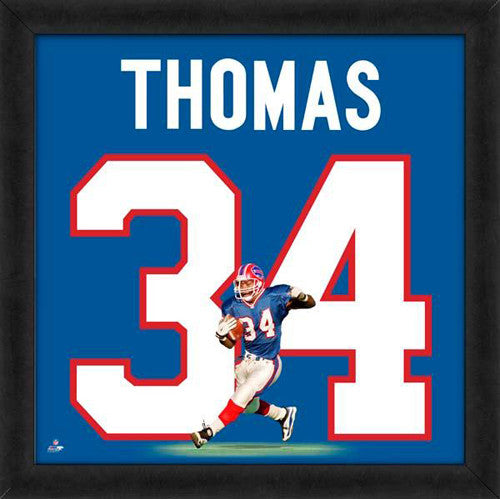 "Thurman Thomas ""Number 34"" Buffalo Bills FRAMED 20x20 UNIFRAME PRINT - Photofile"