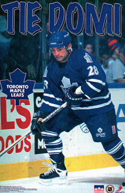 "Tie Domi ""Superstar"" Toronto Maple Leafs NHL Hockey Action Poster - Starline 1997"