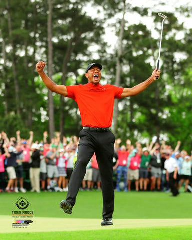 "Tiger Woods ""Roar of Redemption"" (2019 Masters) PGA Golf Premium 20x24 Poster Print - Photofile Inc."