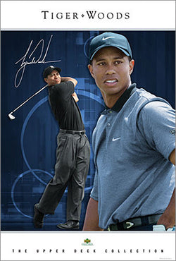 "Tiger Woods ""Intimidation"" PGA Golf Poster - Upper Deck"