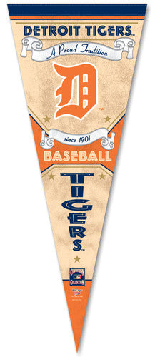 "Detroit Tigers ""Since 1901"" Cooperstown Collection Premium Felt Collector's Pennant"