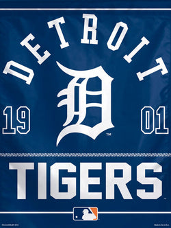 "Detroit Tigers Baseball ""1901"" Premium Collector's Wall Banner - Wincraft Inc."
