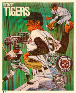 Detroit Tigers Classic Theme Art - ProMotions 1971
