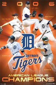 Detroit Tigers 2006 American League Champions Commemorative Poster - Costacos Sports