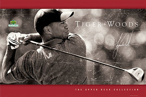 "Tiger Woods ""Driven"" PGA Golf Poster - Upper Deck"