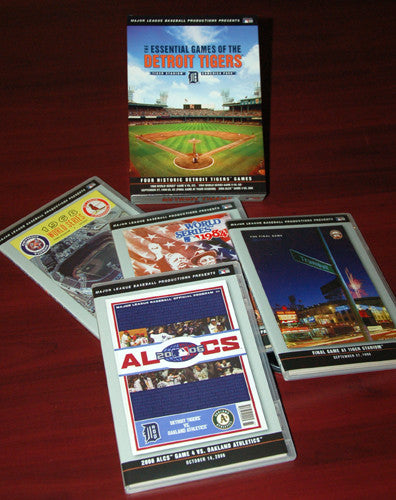 DVD SET: Detroit Tigers Historic Games Boxed Set (4 Complete Original Broadcasts)