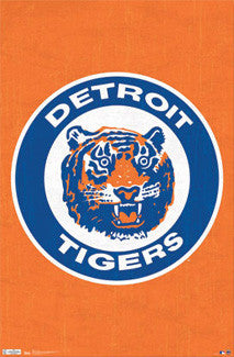 Detroit Tigers Retro Logo (1961-93) Poster - Costacos Sports