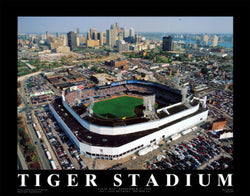 "Detroit Tigers Tiger Stadium ""From Above"" (1999) Poster - Aerial Views Inc."