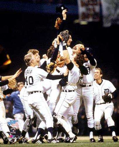 Detroit Tigers 1984 World Series Championship Celebration Premium Poster Print - Photofile Inc.