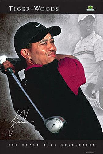 "Tiger Woods ""Vision"" PGA Golf Poster - Upper Deck"