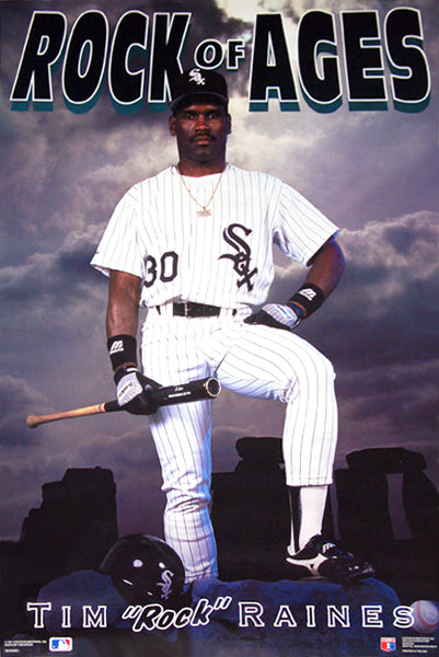 "Tim Raines ""Rock of Ages"" Chicago White Sox Poster - Costacos 1991"