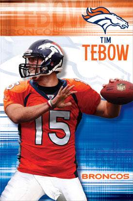Tim Tebow Denver Broncos NFL Action Poster - Costacos 2010