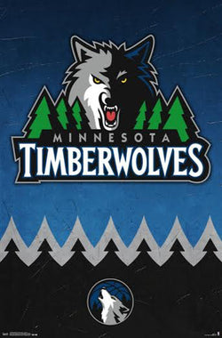 Minnesota Timberwolves NBA Basketball Official Team Logo Poster - Trends International