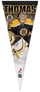 Tim Thomas Premium Felt Collector's Pennant - L.E. /2,009