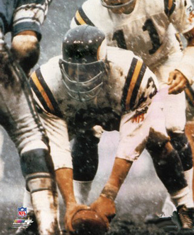 "Mick Tingelhoff ""Center in Snow"" (1969) Minnesota Vikings Premium Poster Print - Photofile"