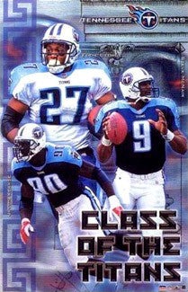 "Tennessee Titans ""Class"" Poster (George, McNair, Kearse) - Starline 2001"