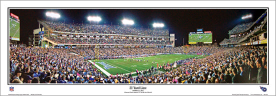"Tennessee Titans LP Field Game Night ""25 Yard Line"" (2012) Panoramic Poster Print - Everlasting"
