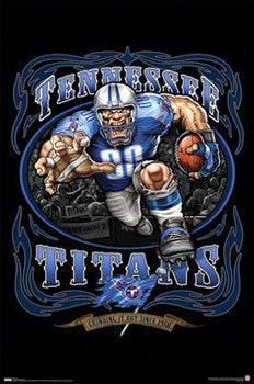 "Tennessee Titans ""Grinding it Out Since 1960"" NFL Theme Art Poster- Costacos Sports"