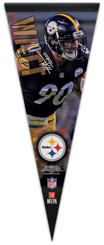 "T.J. Watt ""Signature Series"" Pittsburgh Steelers Premium Felt Collector's PENNANT - Wincraft 2017"