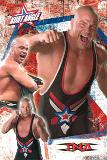 Kurt Angle TNA Wrestling Superstar Poster - Aquarius 2007
