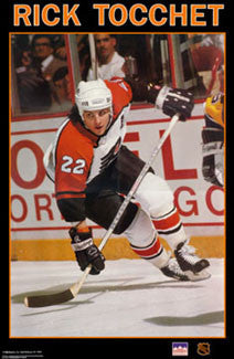 "Rick Tocchet ""Flyer"" Philadelphia Flyers Poster - Starline Inc. 1989"