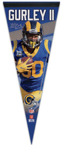 "Todd Gurley ""Signature Series"" L.A. Rams Premium Felt Collector's PENNANT - Wincraft 2018"