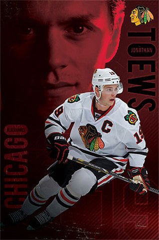 "Jonathan Toews ""Red Hot"" Chicago Blackhawks NHL Action Poster - Costacos Sports"