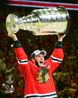 "Jonathan Toews ""Raise the Cup"" 2015 Stanley Cup Champion Chicago Blackhawks Premium 16x20 Poster"