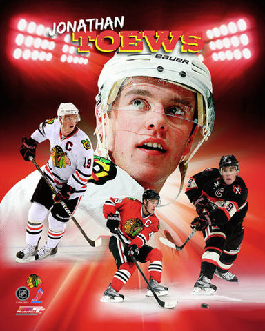 "Jonathan Toews ""Portrait Plus"" Chicago Blackhawks Premium Poster Print - Photofile 16x20"