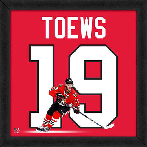 "Jonathan Toews ""Number 19"" Chicago Blackhawks FRAMED 20x20 UNIFRAME PRINT - Photofile"