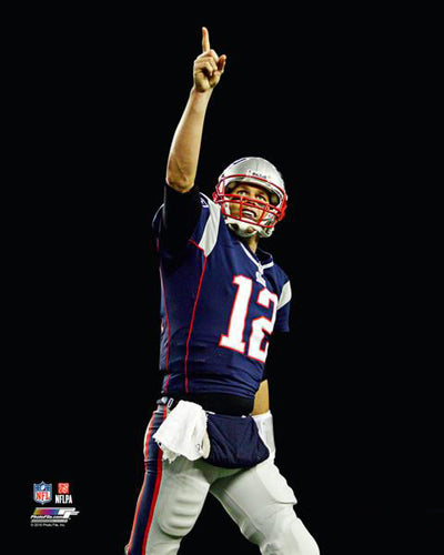 "Tom Brady ""TD Gratitude"" New England Patriots Premium 20x24 Poster Print - Photofile Inc."