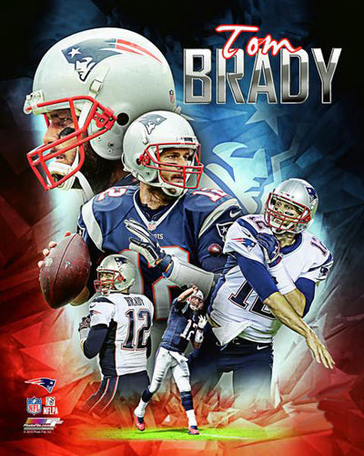"Tom Brady ""Power Profile"" New England Patriots Premium NFL Poster Print - Photofile 16x20"