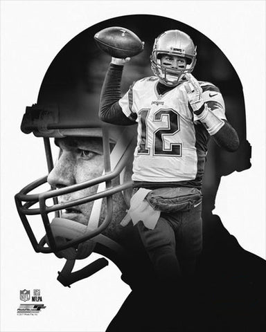 "Tom Brady ""Pro File"" New England Patriots Premium Black-and-White Classic Poster Print - Photofile Inc."