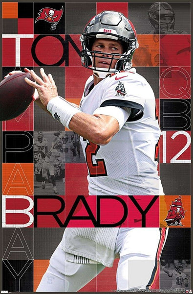 "Tom Brady ""Bucs Brilliance"" Tampa Bay Buccaneers Official NFL Football Wall Poster - Trends International"
