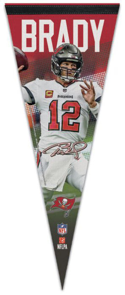 Tom Brady Tampa Bay Buccaneers Signature Series Premium Felt Collector's PENNANT - Wincraft 2020.