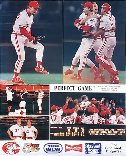 Tom Browning PERFECT GAME (1988) Cincinnati Reds Commemorative Poster