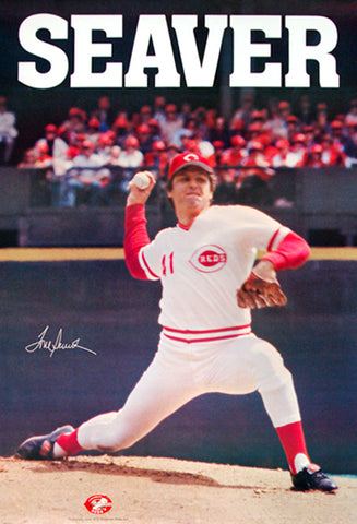 "Tom Seaver ""Signature '79"" Cincinnati Reds Vintage Original MLB Action Poster"