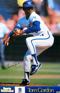 "Tom Gordon ""Flash"" Kansas City Royals Poster - Marketcom/S.I. 1989"
