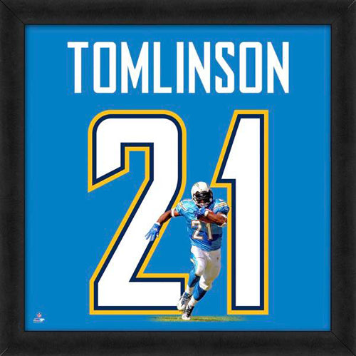 "LaDainian Tomlinson ""Number 21"" San Diego Chargers NFL FRAMED 20x20 UNIFRAME PRINT - Photofile"