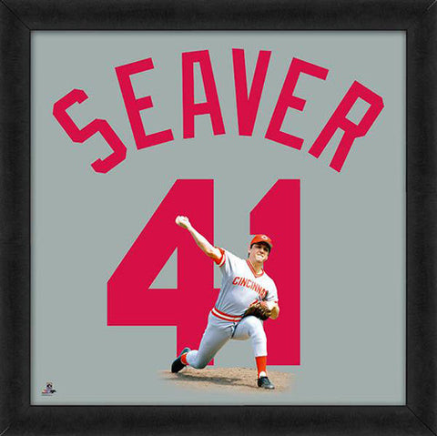 "Tom Seaver ""Number 41"" Cincinnati Reds MLB FRAMED 20x20 UNIFRAME PRINT - Photofile"