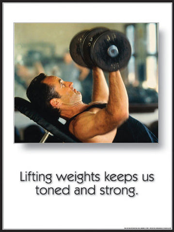 "Dumbbell Workout ""Toned and Strong"" Fitness Motivational Poster - Fitnus Corp."