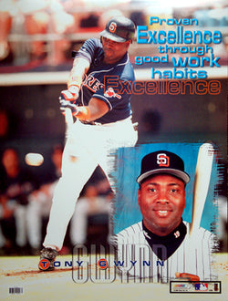 "Tony Gwynn ""Excellence"" San Diego Padres MLB Motivational Poster - Photo File 1999"